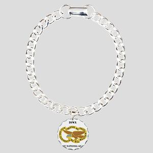 IOWA ANG with text Charm Bracelet, One Charm