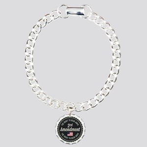 Second Amendment Charm Bracelet, One Charm