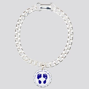 runagainstthegrain_footp Charm Bracelet, One Charm
