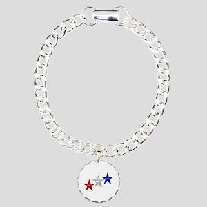 Three Shiny Stars Charm Bracelet, One Charm