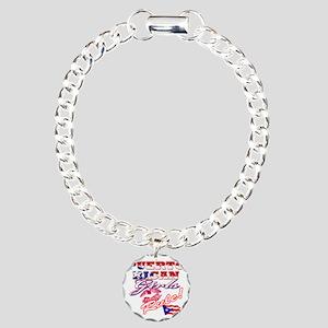 puerto rican girls rule Charm Bracelet, One Charm
