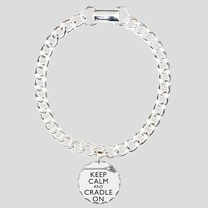Keep Calm And Cradle On Charm Bracelet, One Charm