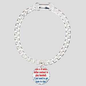 baseball-contract1 Charm Bracelet, One Charm