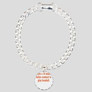baseball-contract3 Charm Bracelet, One Charm
