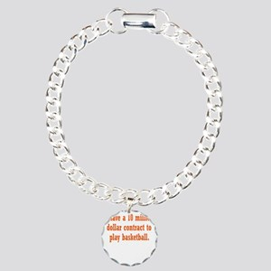 basketball-contract3 Charm Bracelet, One Charm