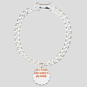 football-contract3 Charm Bracelet, One Charm
