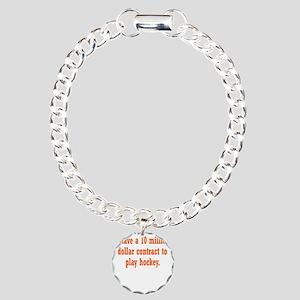hockey-contract3 Charm Bracelet, One Charm