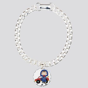 SCRAPBOYRACECAR Charm Bracelet, One Charm