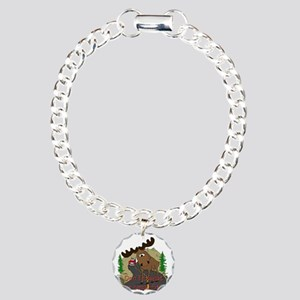 Moose fun Charm Bracelet, One Charm