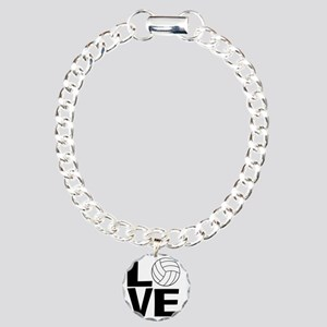 Volleyball Love Charm Bracelet, One Charm