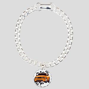 2006orange Charm Bracelet, One Charm