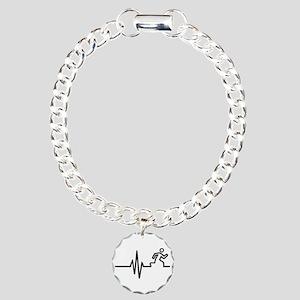 Runner frequency Charm Bracelet, One Charm