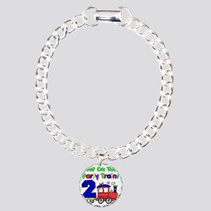 Get On The Party Train 2 Charm Bracelet, One Charm