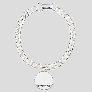 Mens mustang Charm Bracelet, One Charm