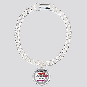 You're my person. Charm Bracelet, One Charm
