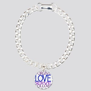 Forgive Love Serve Follo Charm Bracelet, One Charm