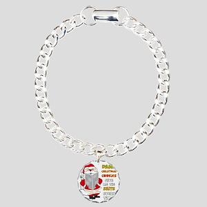santapoop2 Charm Bracelet, One Charm