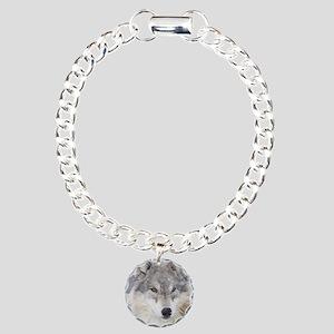 ms  Wolf Charm Bracelet, One Charm