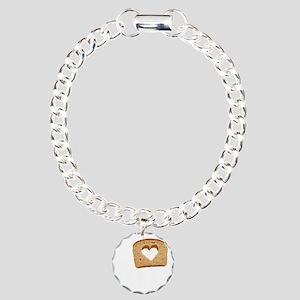 I Love Carbs (Vintage) Charm Bracelet, One Charm