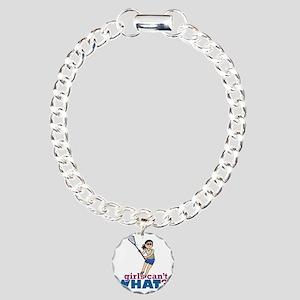 Girl Lacrosse Player in  Charm Bracelet, One Charm