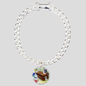 6167_dog_cartoon Charm Bracelet, One Charm