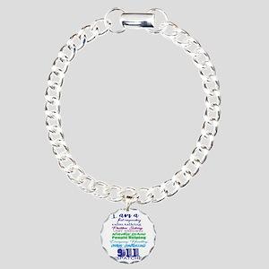 911 DISPATCHER Charm Bracelet, One Charm