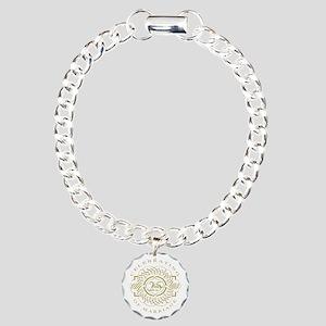 25th Wedding Anniversary Charm Bracelet, One Charm