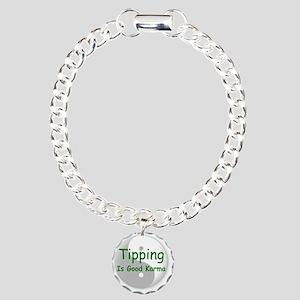 karma_label_zazzle Charm Bracelet, One Charm