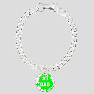 Number One Dad Charm Bracelet, One Charm
