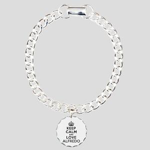 Keep Calm and Love ALFRE Charm Bracelet, One Charm