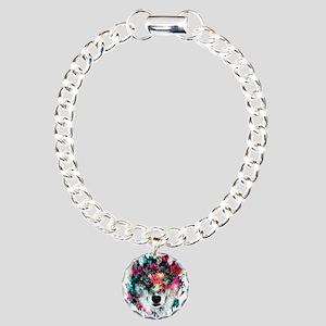 Wolf Charm Bracelet, One Charm