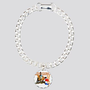 cowgirl way 2 Charm Bracelet, One Charm
