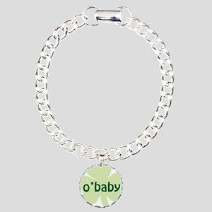 obaby shamrock_dark Charm Bracelet, One Charm