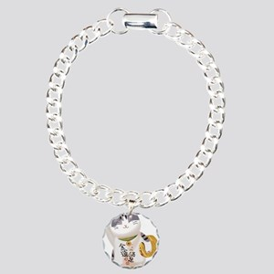 Lucky Cat Charm Bracelet, One Charm