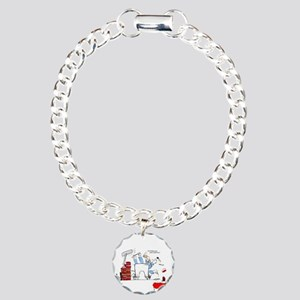 colorized micro Charm Bracelet, One Charm