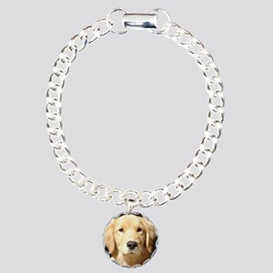 Golden Retriever Charm Bracelet, One Charm