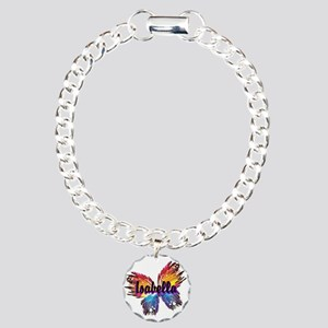 Personalize Butterfly Charm Bracelet, One Charm