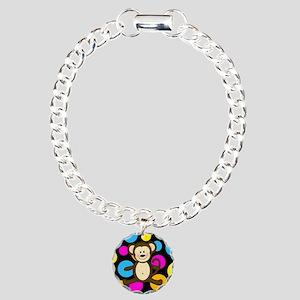 Happy Monkey on Multicolor Bracelet