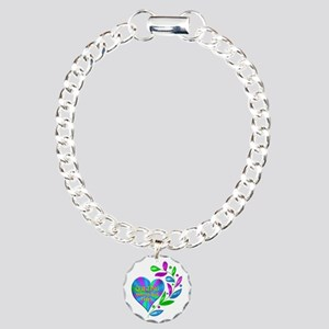 Quilting Happy Heart Charm Bracelet, One Charm