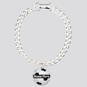 Personalized Soccer Ball Charm Bracelet, One Charm