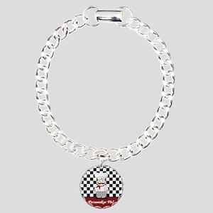 Personalized French Chef Charm Bracelet, One Charm