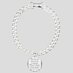 Do You Not Know I Am a Woman Charm Bracelet, One C
