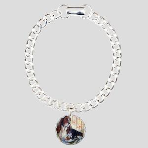 Vintage Basset Hound Charm Bracelet, One Charm