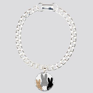 Rabbittude Posse Charm Bracelet, One Charm