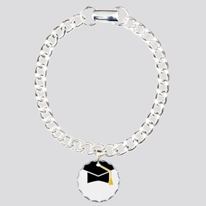 Doctoral Cap Charm Bracelet, One Charm