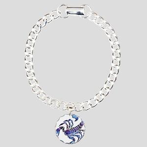 Celestial Rainbow Scorpi Charm Bracelet, One Charm
