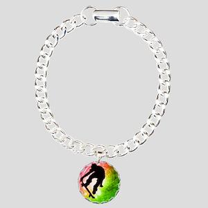 Skateboarder in a Psyche Charm Bracelet, One Charm