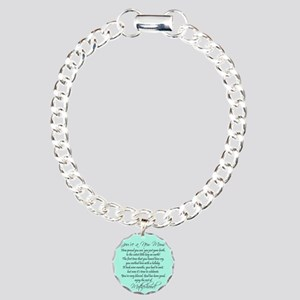 New Mom Ornament Boyl Charm Bracelet, One Charm
