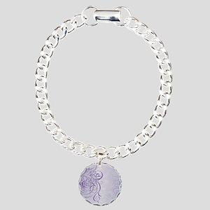 Vintage Rococo Purple Da Charm Bracelet, One Charm