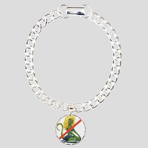 No Lot Lizards Charm Bracelet, One Charm